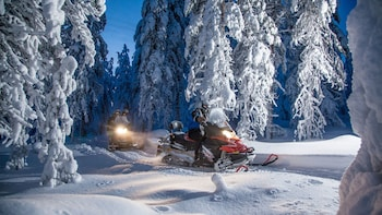 Abendliche Erlebnistour mit Schneemobil-Safari und Lagerfeuer