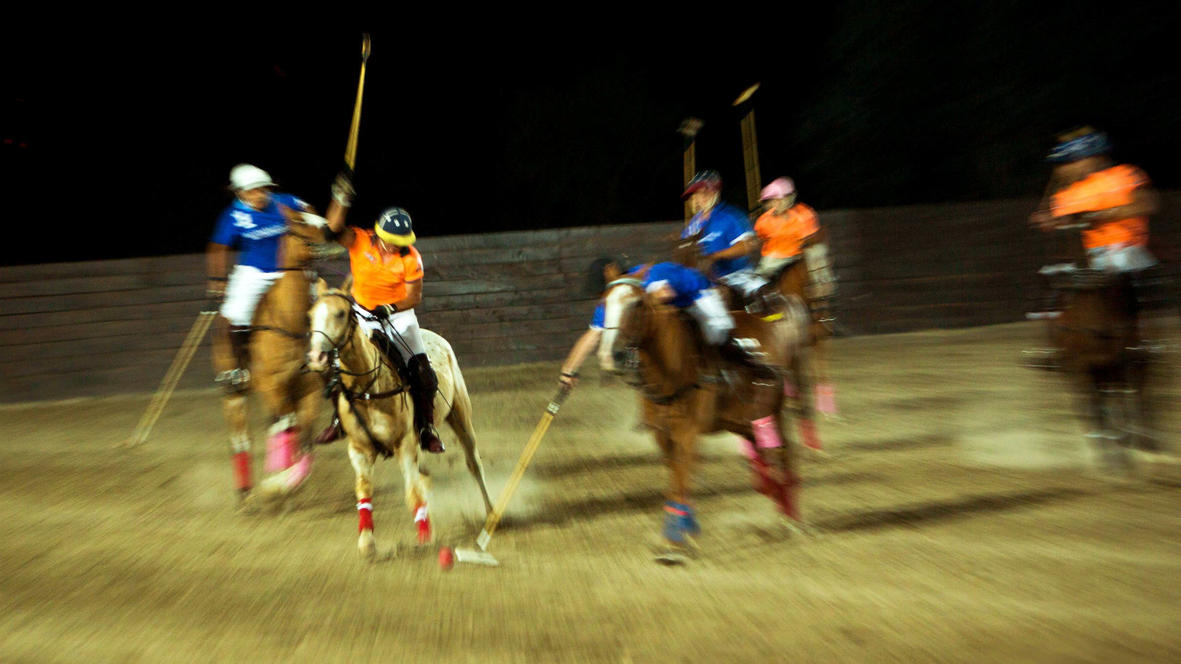 Polo at night in Buenos Aires