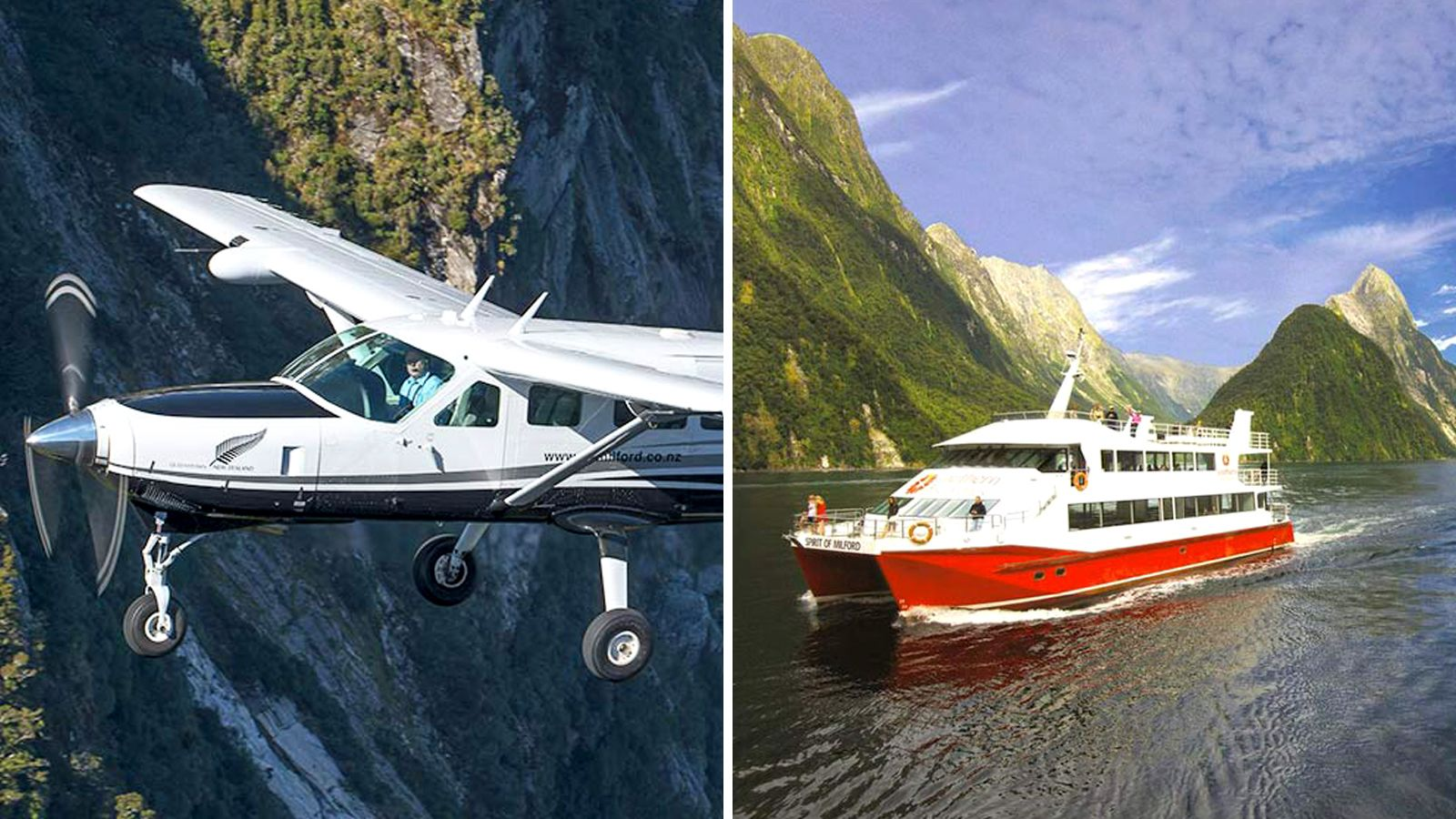 Half-Day Milford Sound Scenic Flight & Nature Cruise from Queenstown