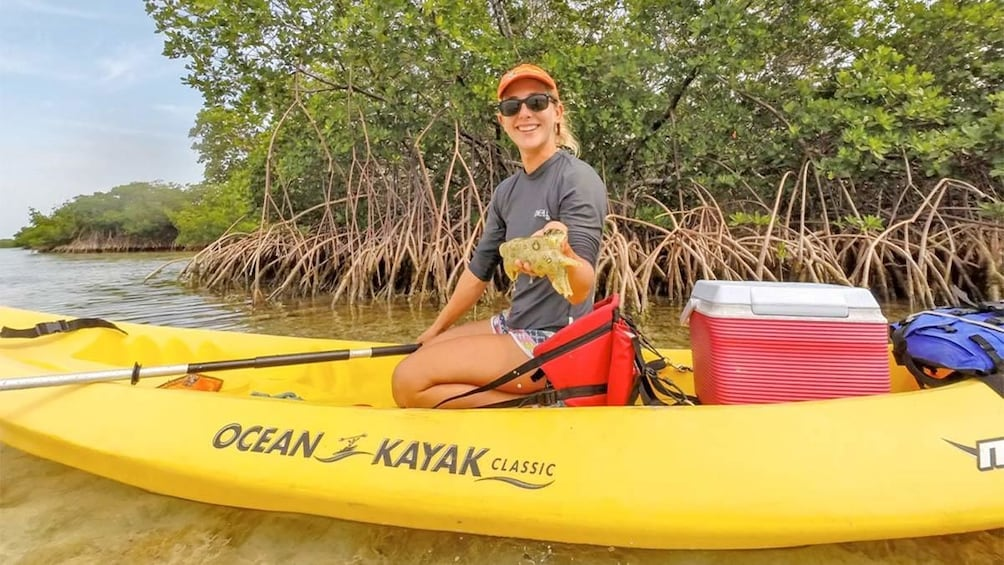 Show item 2 of 5. Close up view of a woman on a kayak in Florida Keys - Key West, FL