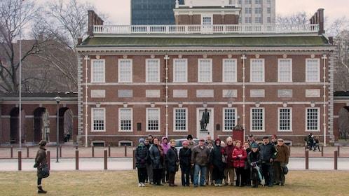 Tour group in Philadelphia