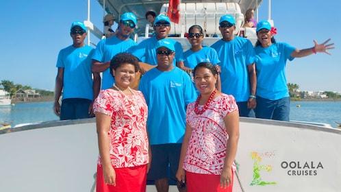 Crew of a cruise ship in Fiji