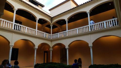 Interior of Museo Picasso in Malaga