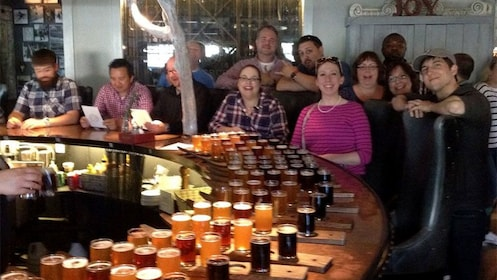 Tour group at a Vermont brewery