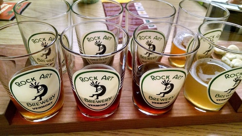 Sample of beer at a brewery in Vermont