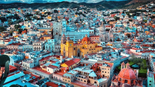 Ariel view of the city of Guanajuato
