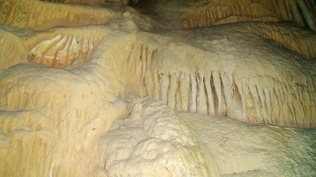 Close view of the Garcia Caves in Mexico