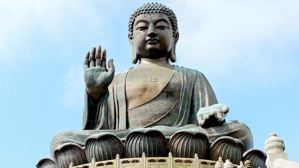 Show item 3 of 10. Close up of the Tian Tan Buddha in Hong Kong