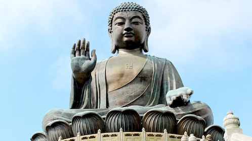 Close up of the Tian Tan Buddha in Hong Kong