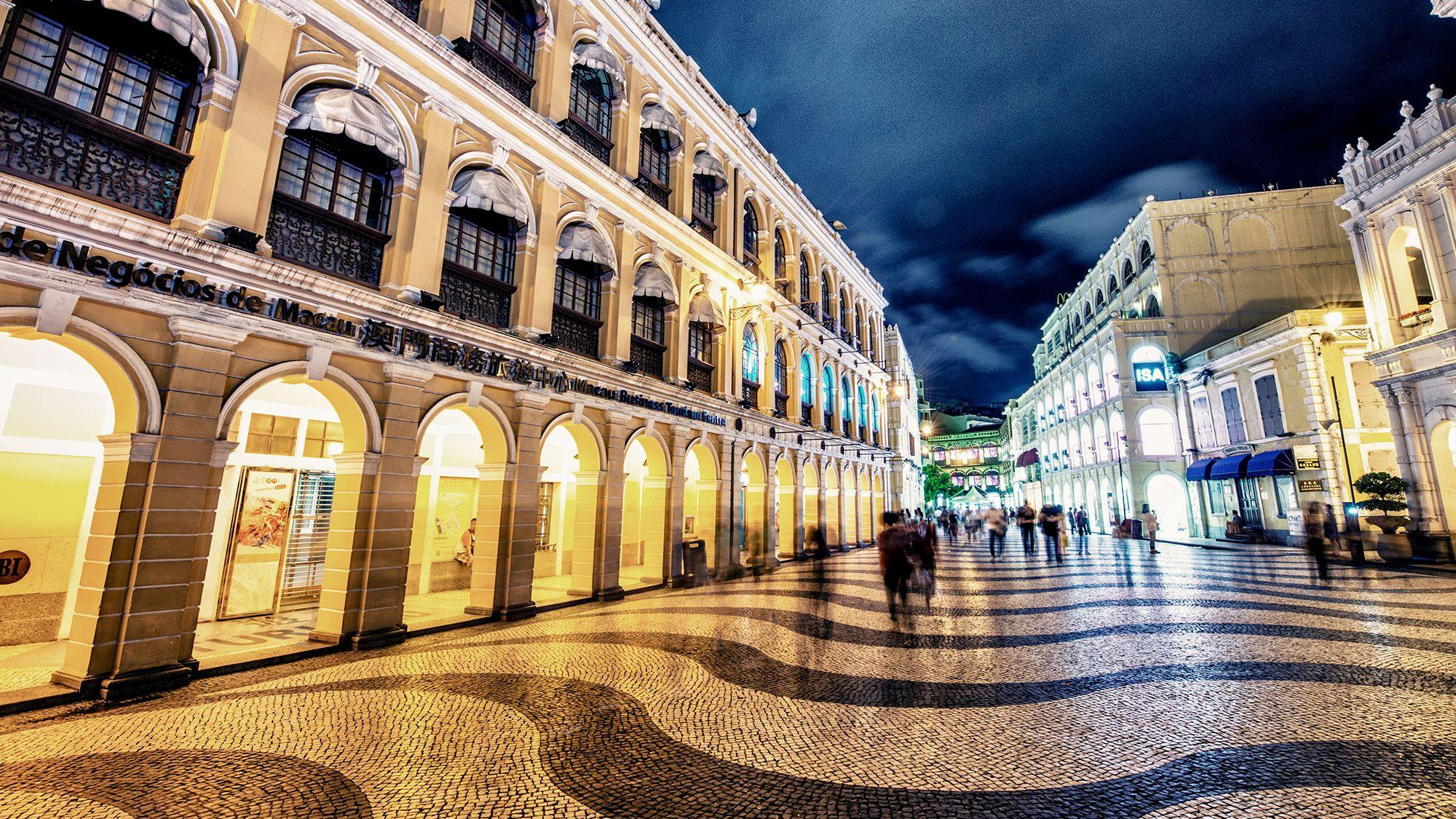 Night street view of Macau