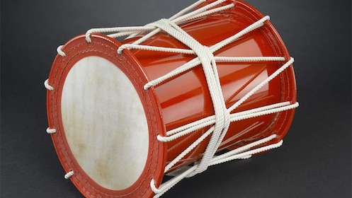 Red drum at the Wadaiko Japanese Drum Lesson - Kobe