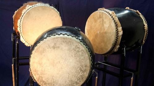 Drums at the Wadaiko Japanese Drum Lesson - Kobe