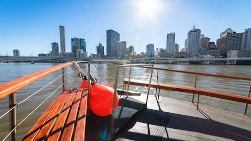 Bow of a boat looking out to Brisbane, Australia