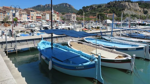 Boats at the marina in Cassis