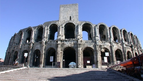 Ancient colosseum in Las Baux