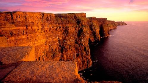 Cliffs of Ireland at sunset