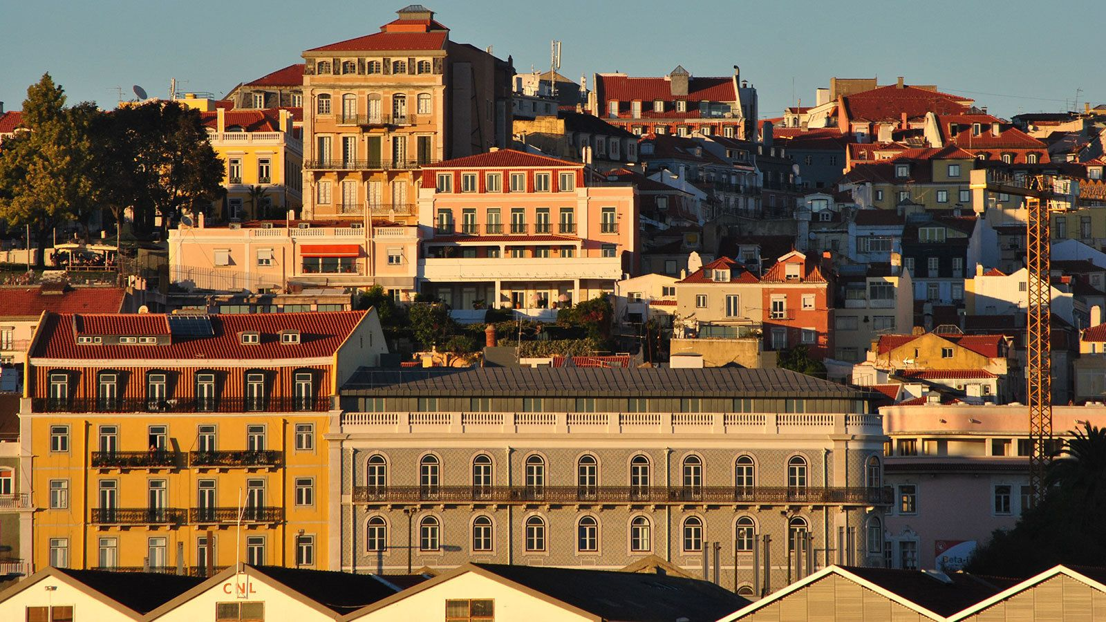 View of the city of Lisbon from the water