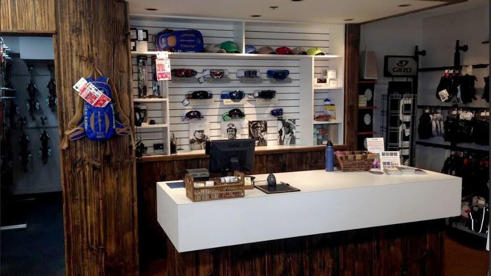 Ski Rental shop interior in Aspen