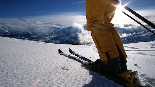 Skier on a hill in Aspen