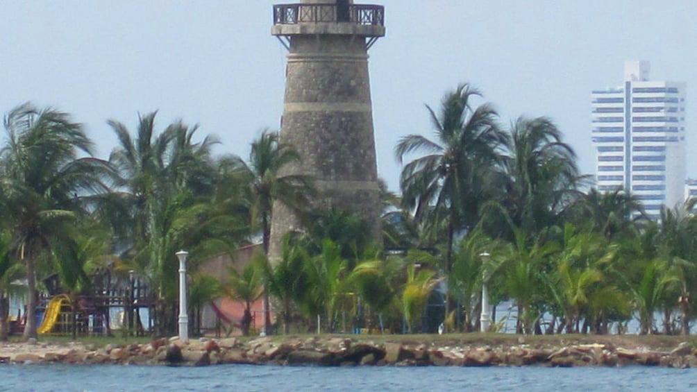 Tower in Colombia on the water
