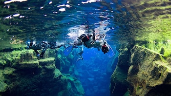 Small Group Silfra Snorkeling & Lava Caving Adventure