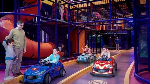 Car ride at the Warner Bros Fun Zone in Macau