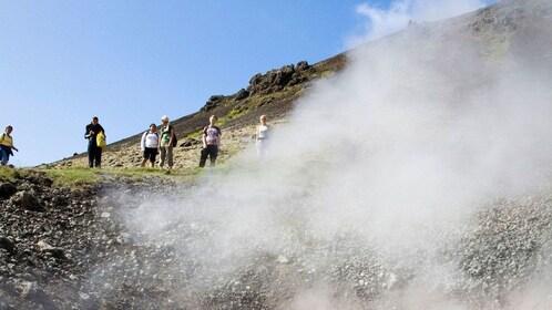 Geothermal pool in Reykjavik