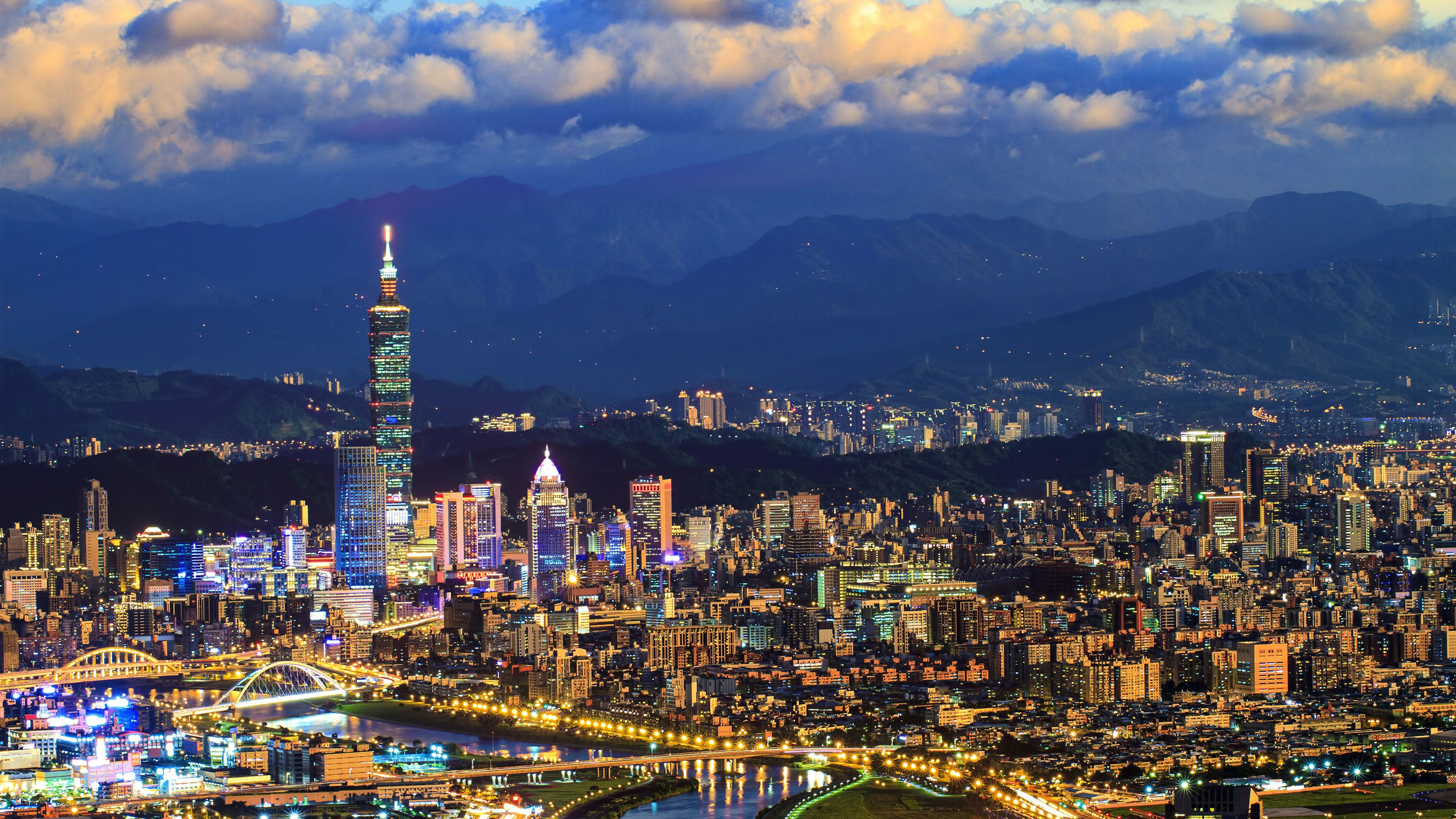 Another view of the city of Taipei at night