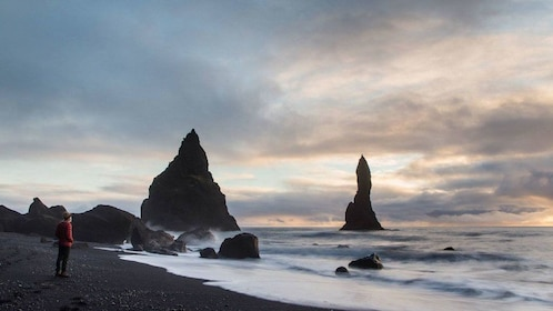 Icelandic beach with rock formations