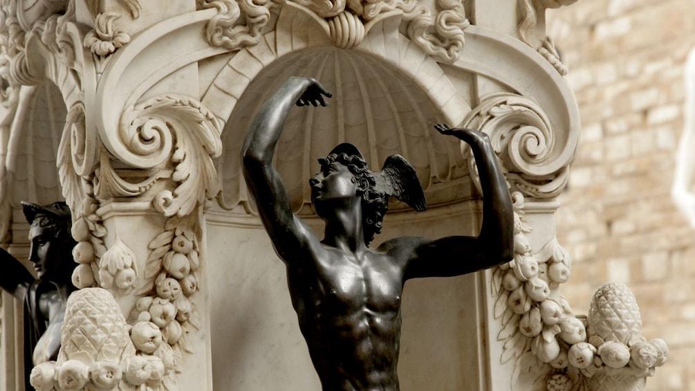 Show item 2 of 5. Piazza Signoria with statue of Mercury