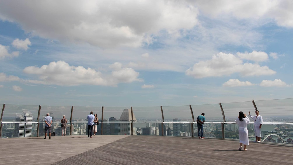 Show item 5 of 5. observation deck in Singapore