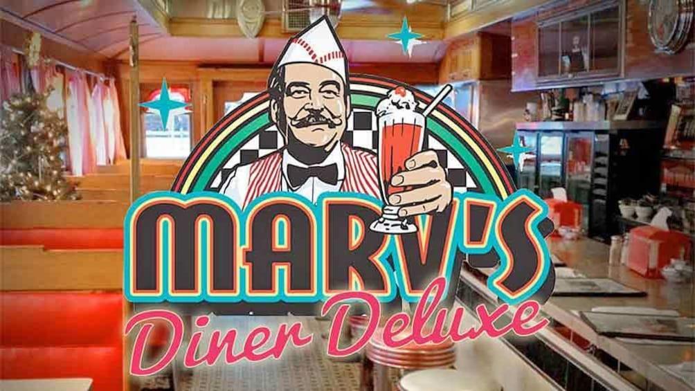 Show item 1 of 4. Marv's Diner Delux escape room in banff