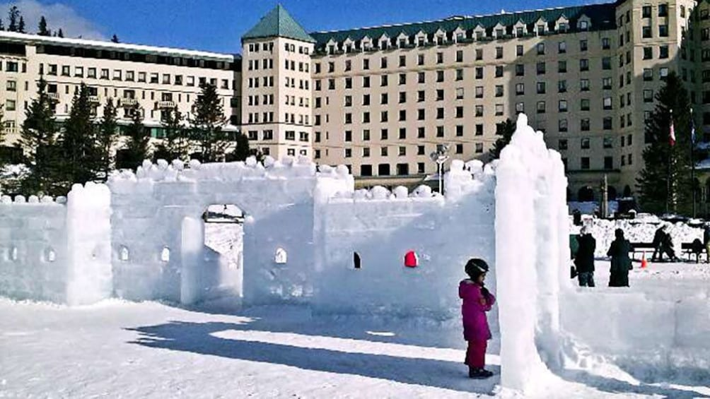 Show item 1 of 7. Igloo next to a Hotel