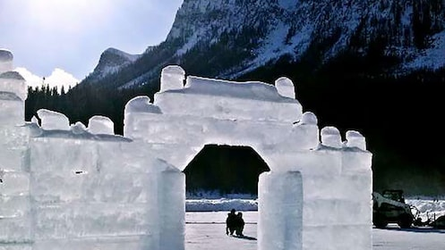 Igloo next to a Hotel in Banff