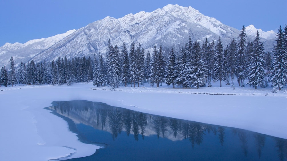 Show item 2 of 7. Snow covered Lake Louise