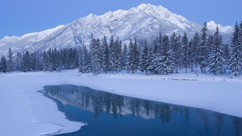 Snow covered Lake Louise