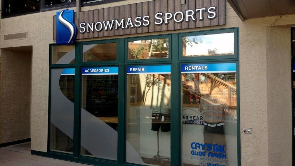 Show item 3 of 5. Entrance to Snowmass Sports ski rental in Aspen