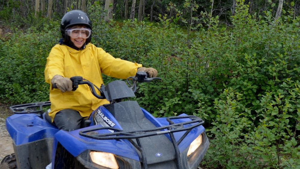 Show item 4 of 4. Woman on an ATV in Denali National Park