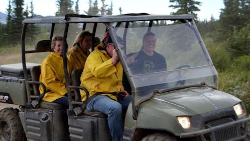 Tour group in an ATV in Alaska