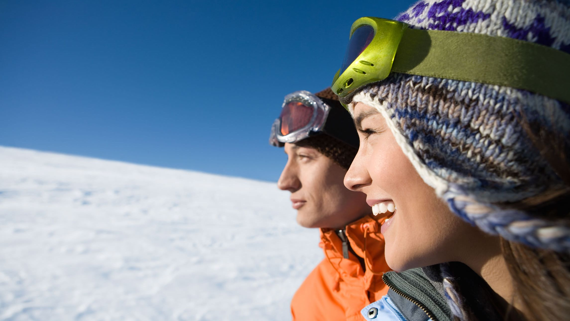Two snowboarders on a mountain