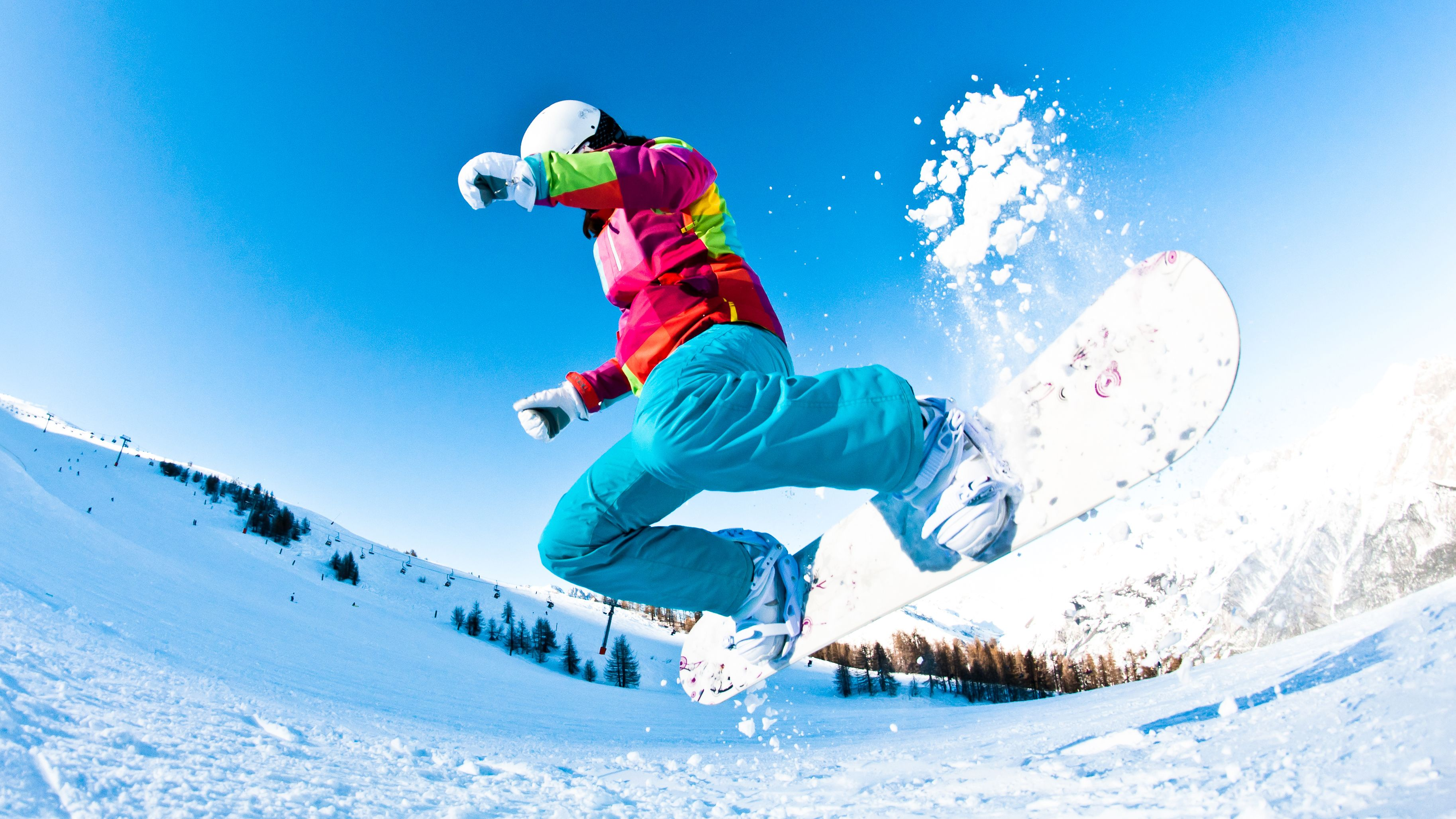Snowboarder on a mountain