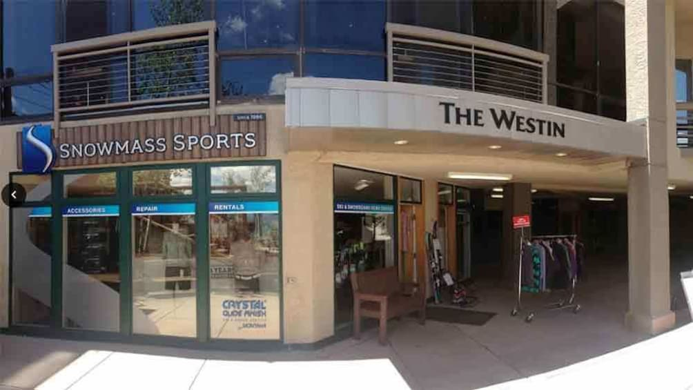 Front view of Snowmass sports store in Colorado