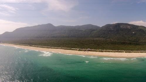 Sandy coast in Rio de Janeiro