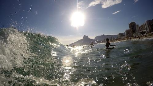 People surfing in Rio de Janeiro
