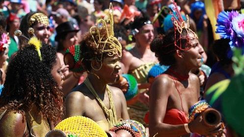 Women in costume during Carnival in Rio de Janeiro