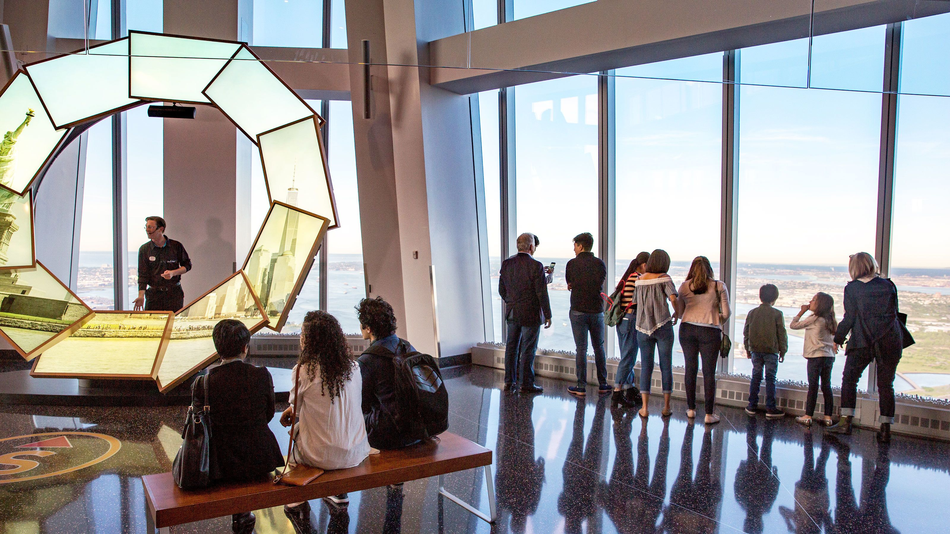 People at One World Observatory in New York