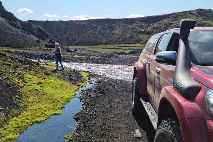 Private Day Trip in Landmannalaugar South Region area on a 4x4 truck