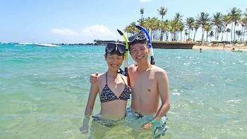 Esnórquel en una playa privada en San Juan