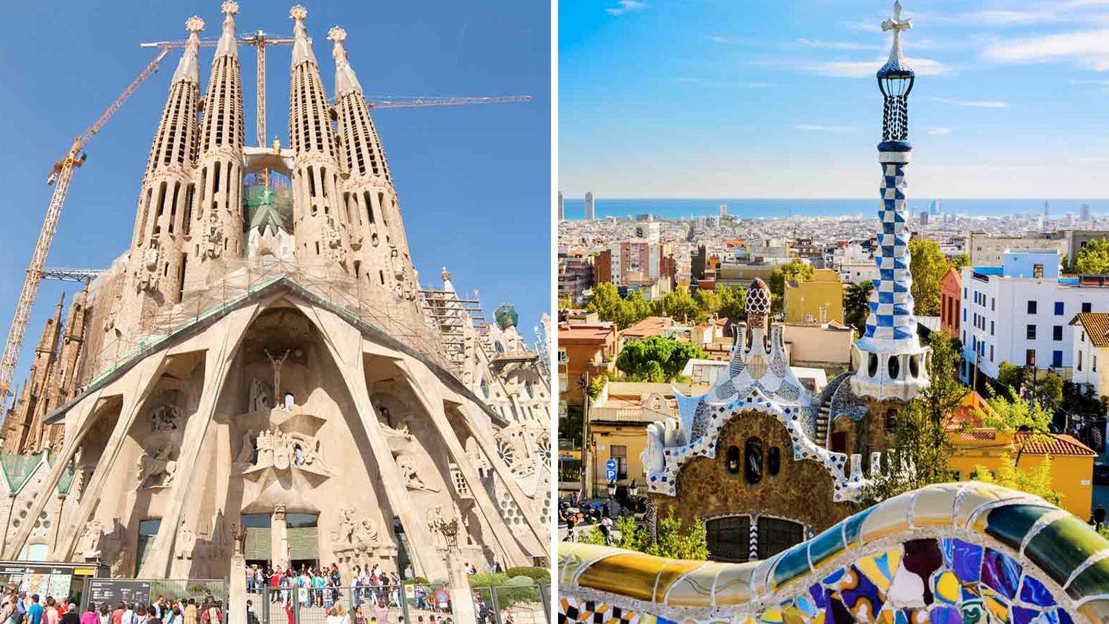 Fast track: Rundvisning i Parque Güell og Sagrada Família med tårnene