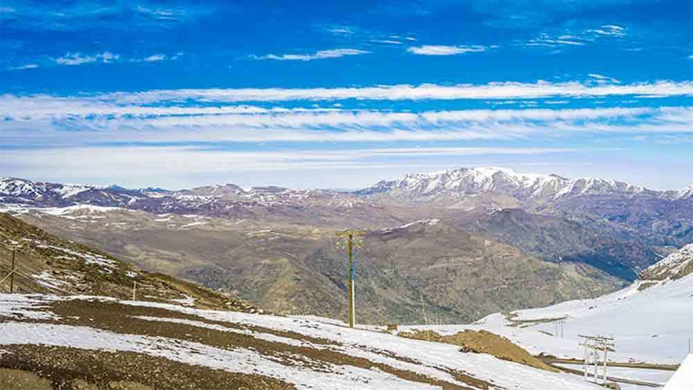 Scenic view of the Andes